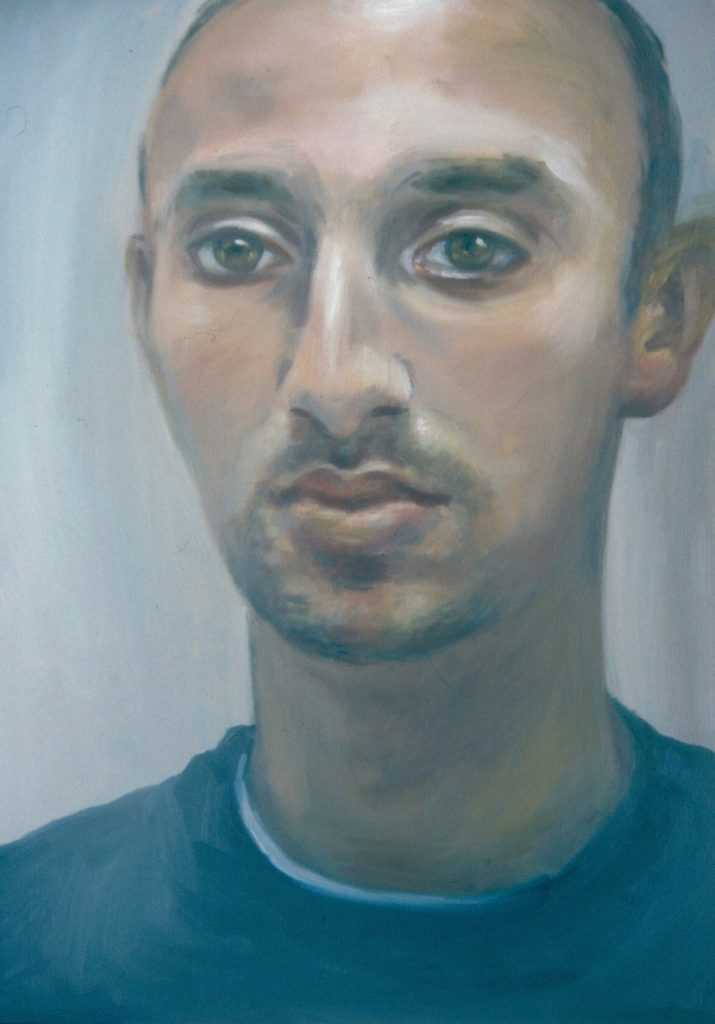 Portrait of Artist's son Adam. Oil painting on Canvas