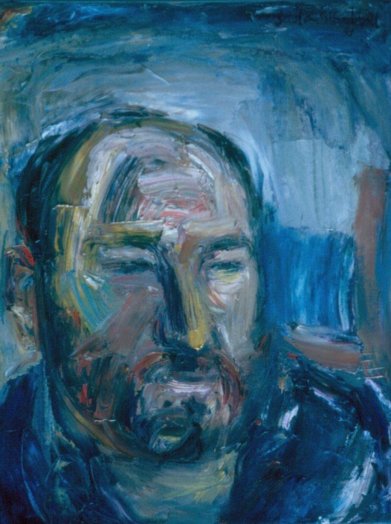 Portrait of Architect Alan Walt. Oil painting on Canvas