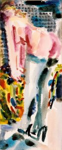 Bending, 2000 Watercolour on Paper 10x30cm