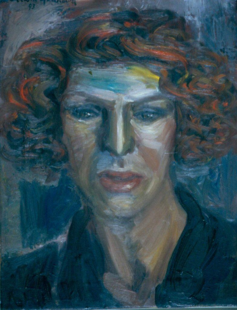 Benita Munitz. 1993.Oil on Canvas 38x49cm