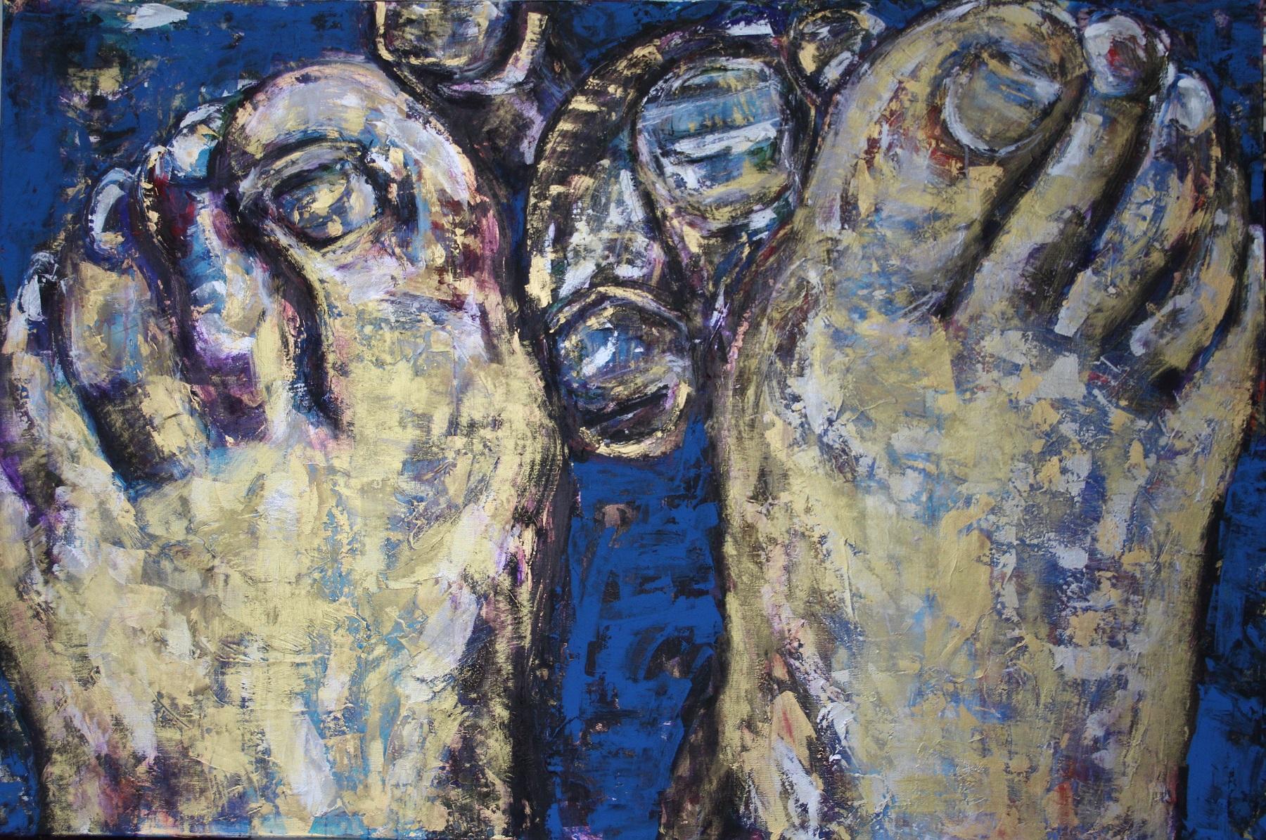 Between Us. 2016. Acrylic on Canvas. 180x120cm