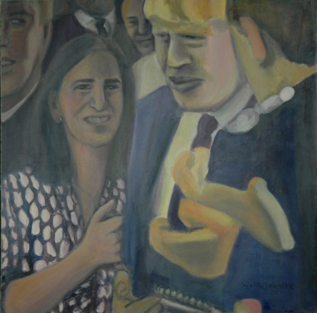 Portrait of Boris Johnson, marks the moment when he was elected Mayor of London