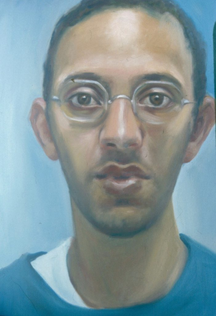 Portrait of Artist's son Brent. Oil painting on Canvas