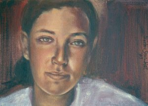 This Portrait of my Daughter Danielle after the Death of her Father, Frank Greenblatt, suggests that Life for her will never be the same.