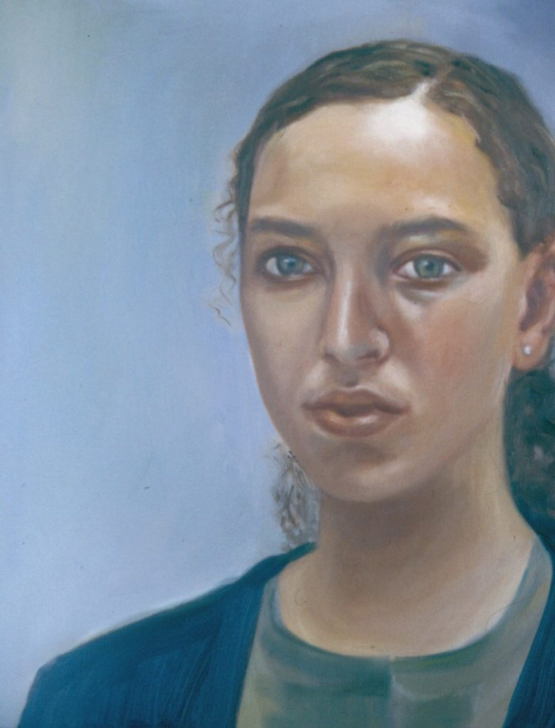 Portrait of Artist's daughter Danielle. Oil painting on Canvas