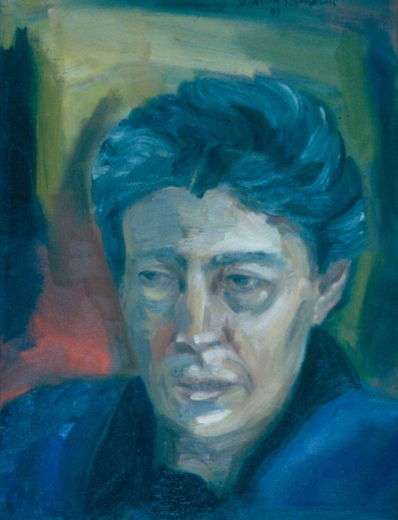 Edwine Simon. 1993. Oil on Canvas 38x49cm