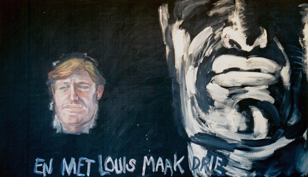 En Met Louis Maak Drie, 1990. Oil on Canvas. 295x170cm