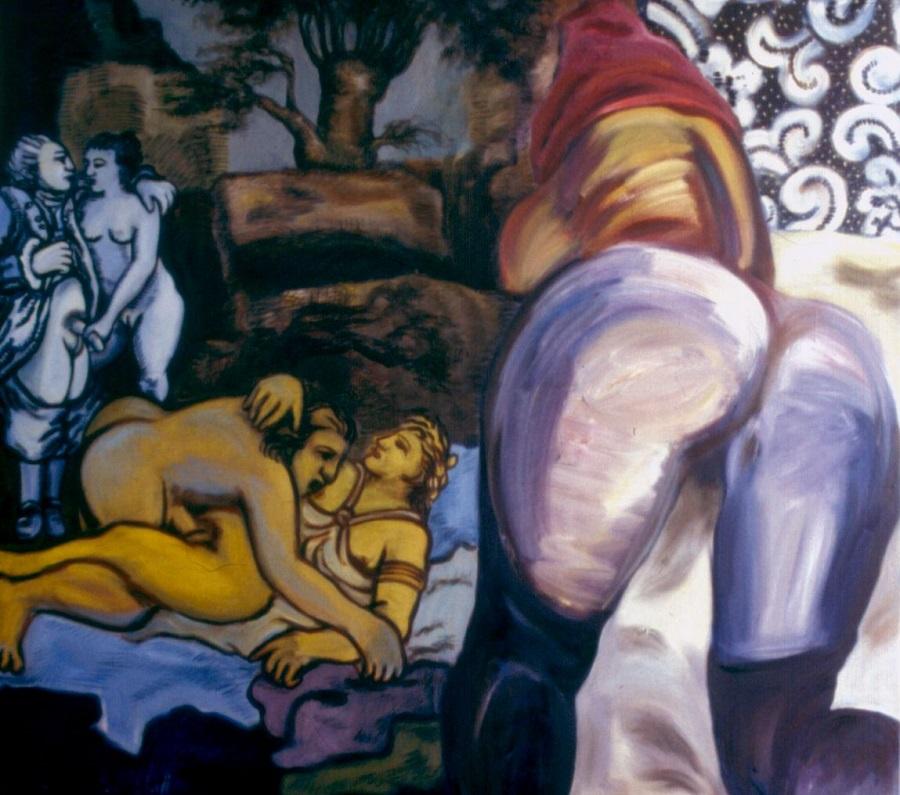 Correspondances de Madame 1993. Oil on Canvas; 171x161cm;