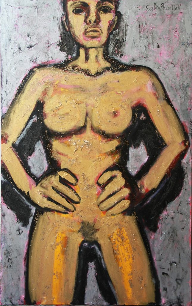 Golden Girl 2014. Acrylic on Canvas. 120x190cm