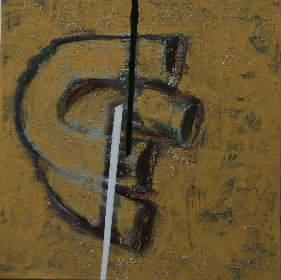 Golden Years, 2011,  Acrylic on Canvas, 50 x 50 cm
