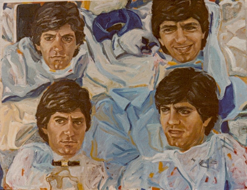 Four representations of Gordon Joffe on light ground