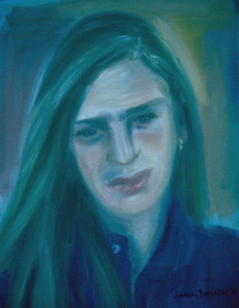 Heidi Wilder. 1993. Oil on Canvas. 49x38cm