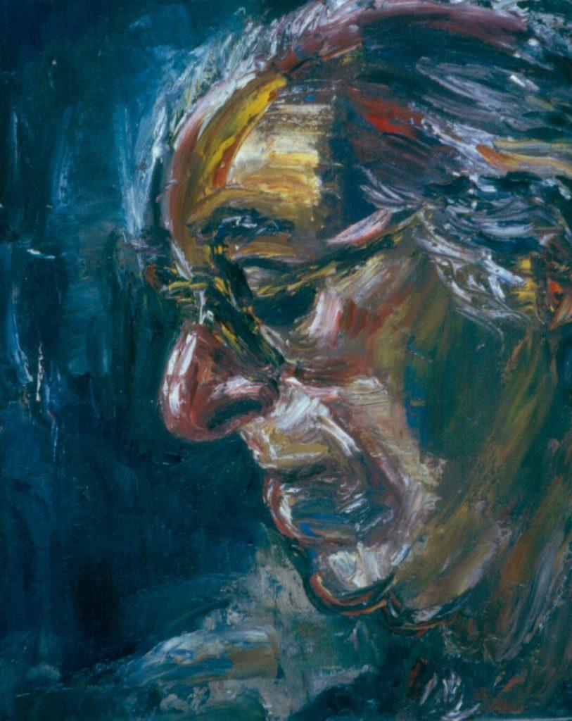 Joe Wolpe II, 1994. Oil on Canvas 38x49cm