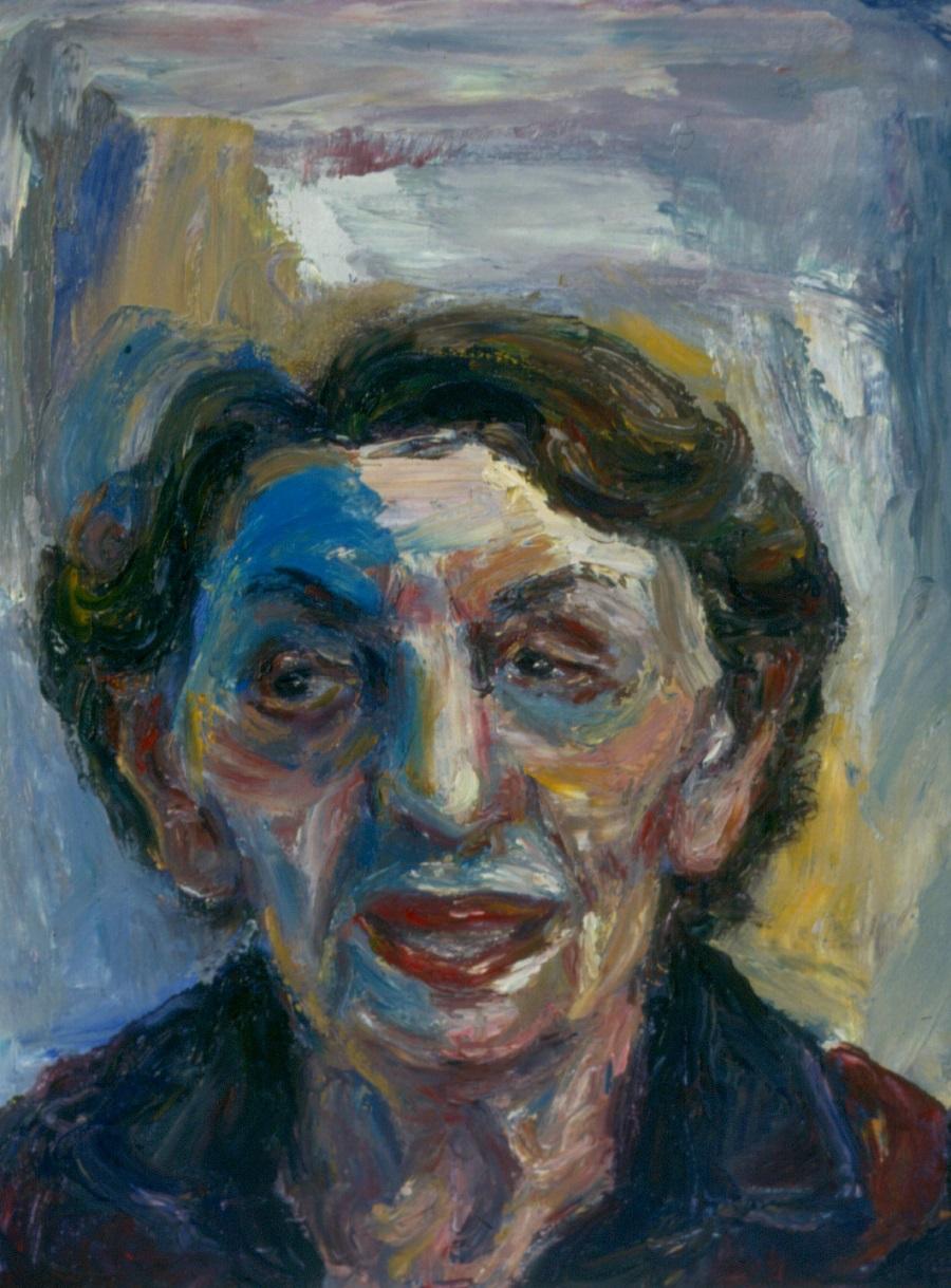 Leah Todres. 1993. Oil on Canvas 38x49cm
