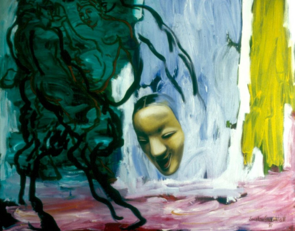 Mask, 1997. Oil on Canvas  167x144cm