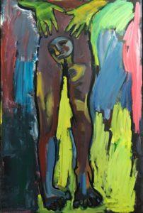 Milanesco - G. Wearing in progress. 2016. Oil on canvas. 130x195cm
