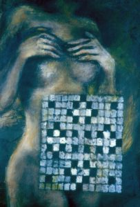 Modesty, 1999. Acrylic on Paper. 28x40cm