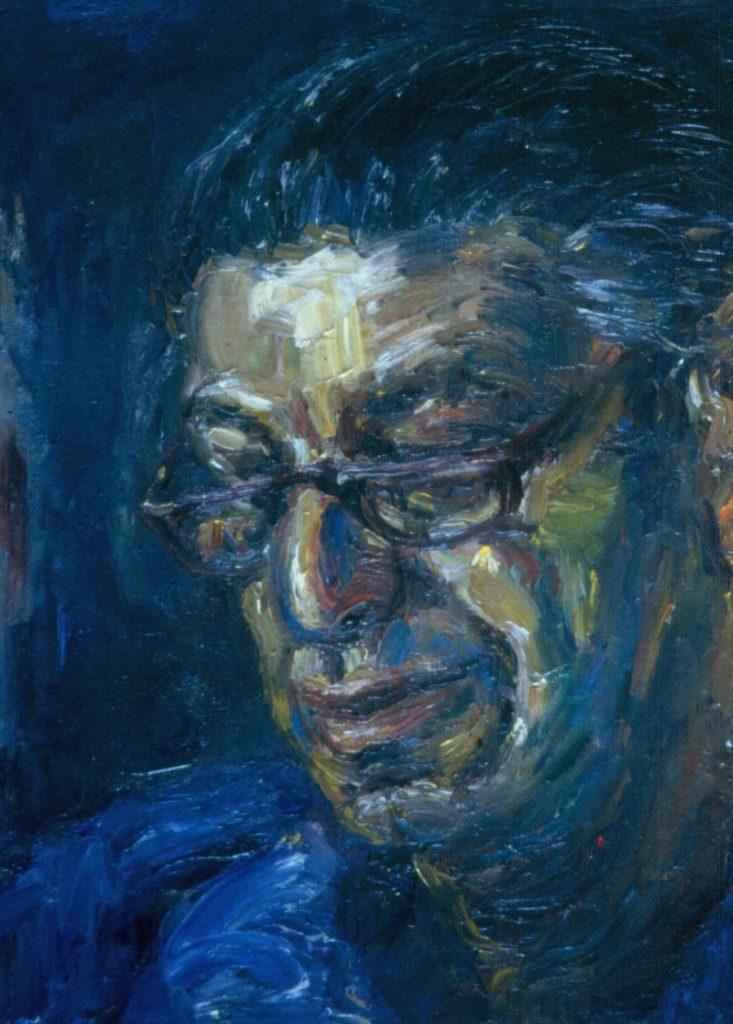 Neville Dubow. 1994. Oil on Canvas. 38x49cm