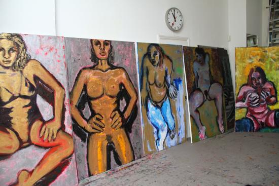 Figure Paintings in Studio I