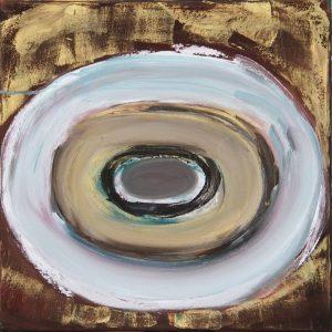 On Golden Ground. 2013. Oil on Canvas. 50x50cm