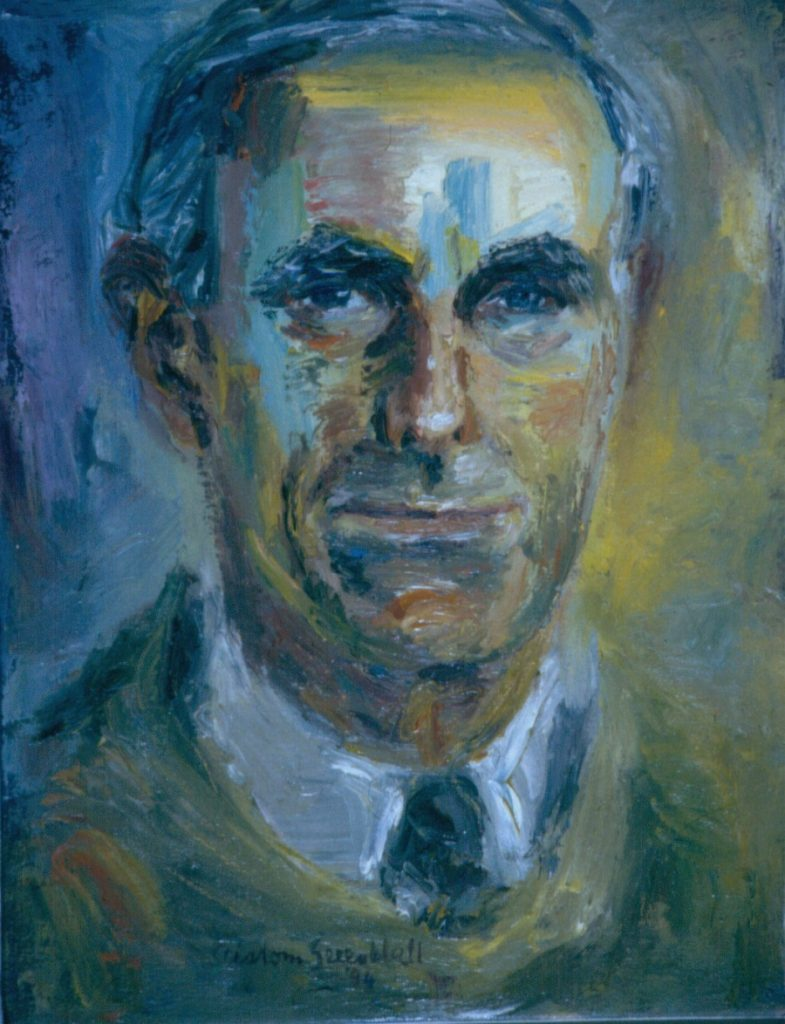Anthony Hall. 1994.Oil on Canvas 38x49cm