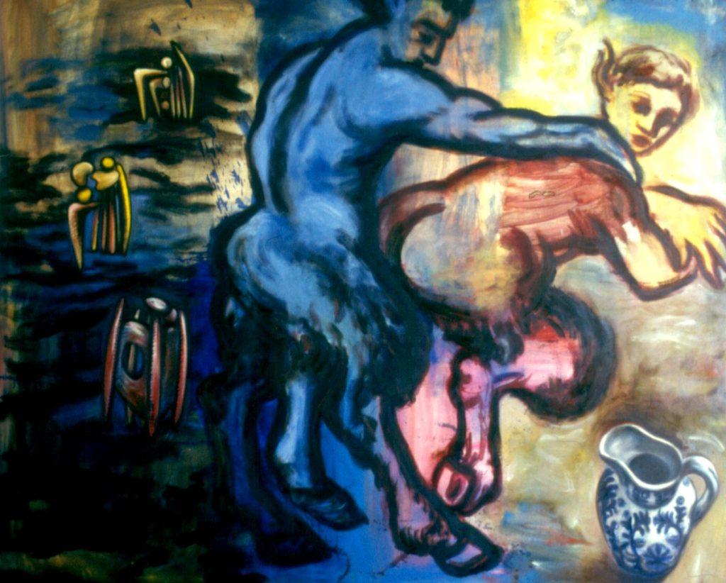 Satyres, 1997. Oil on Canvas  198x160cm