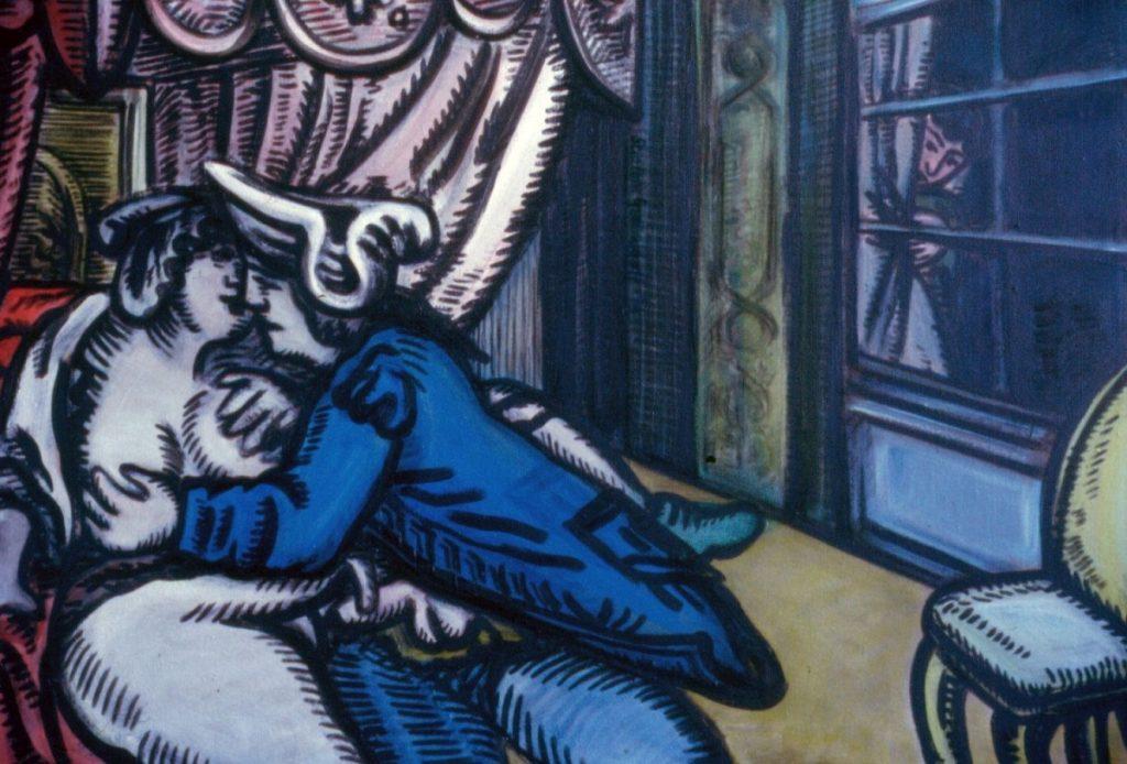 Voyeur, 1994. Oil on Canvas 110x79cm