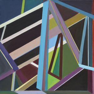 Trapeze, 2011. Acrylic on Canvas, 50x50 cm