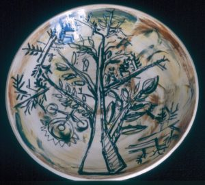 Tree, 1998. Ceramic, 51cm Diameter