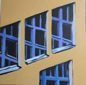 contemporary art. abstract painting architectural